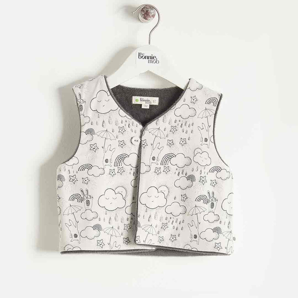 Bonnie Mob Reversible Gilet Kids - Sand