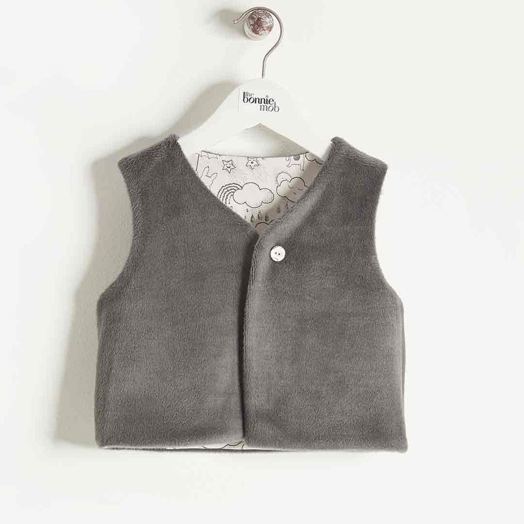 Bonnie Mob Reversible Gilet Kids Sand