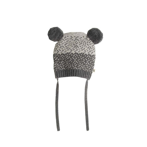 Bonnie Mob Wooley Chunky Knitted Hat - Grey-Hats- Natural Baby Shower