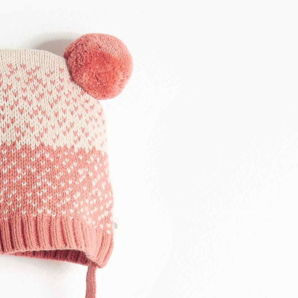Bonnie Mob Wooley Chunky Knitted Hat - Pink-Hats- Natural Baby Shower