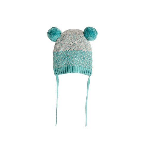 Bonnie Mob Wooley Chunky Knitted Hat - Teal-Hats- Natural Baby Shower