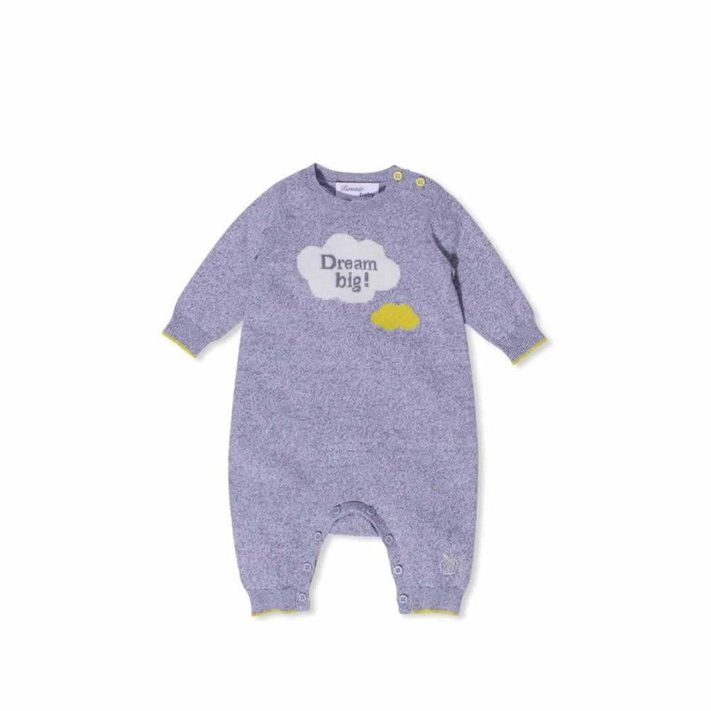 Bonnie Baby Sunny Playsuit - Grey Chine