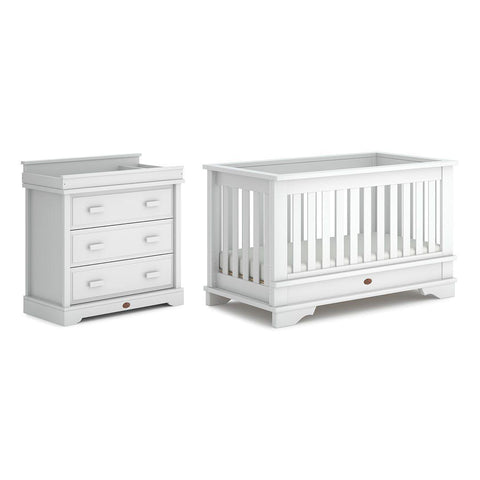 Boori Eton Convertible 2 Piece Nursery Set - Barley White-Nursery Sets-Without Conversion- Natural Baby Shower