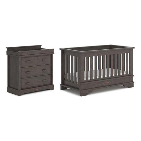Boori Eton Convertible 2 Piece Nursery Set - Mocha-Nursery Sets-Without Conversion- Natural Baby Shower