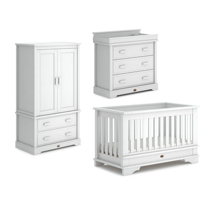 Boori Eton Convertible 3 Piece Nursery Set - Barley White-Nursery Sets-Without Conversion- Natural Baby Shower