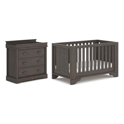 Boori Eton Expandable 2 Piece Nursery Set - Mocha-Nursery Sets-Without Expansion- Natural Baby Shower