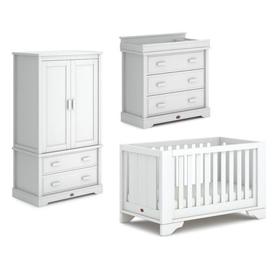 Boori Eton Expandable 3 Piece Nursery Set - Barley White-Nursery Sets- Natural Baby Shower