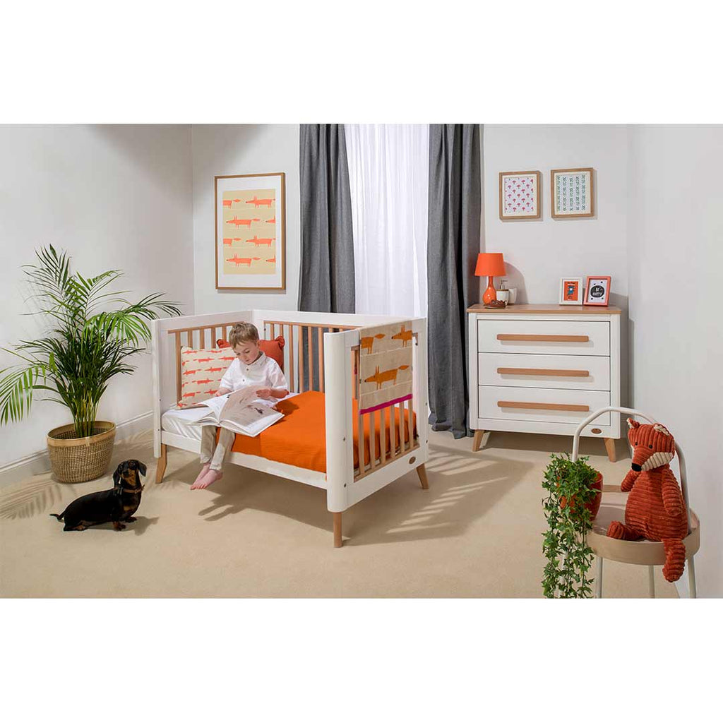 Boori Perla 2 Piece Nursery Set - White & Nutmeg-Nursery Sets- Natural Baby Shower
