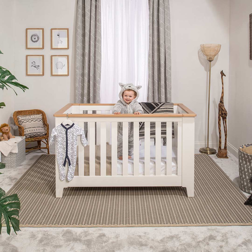 Boori Pioneer Expandable 2 Piece Nursery Set - Barley/Almond 1