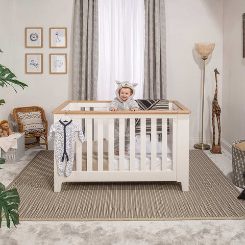 Boori Pioneer Expandable Cot Bed - Barley/Almond-Cot Beds- Natural Baby Shower