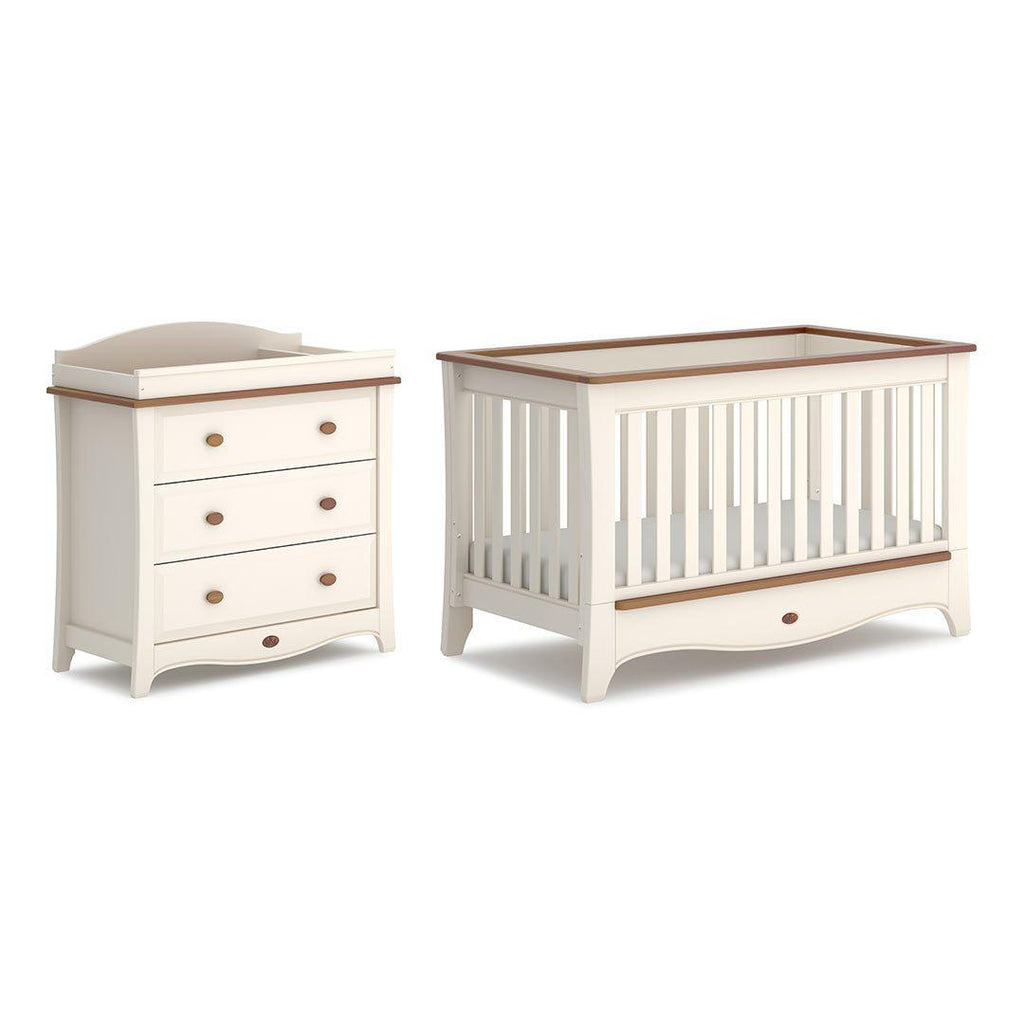 Boori Provence Convertible 2 Piece Nursery Set - Cream & Pecan-Nursery Sets- Natural Baby Shower