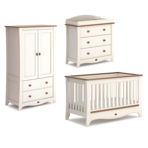 Boori Provence Convertible 3 Piece Nursery Set - Cream & Pecan-Nursery Sets-Without Conversion- Natural Baby Shower