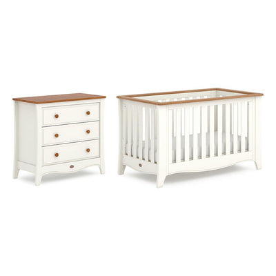 Boori Provence Expandable 2 Piece Nursery Set - Cream & Pecan-Nursery Sets- Natural Baby Shower