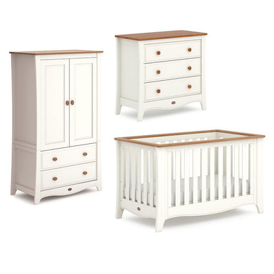Boori Provence Expandable 3 Piece Nursery Set - Cream & Pecan-Nursery Sets- Natural Baby Shower