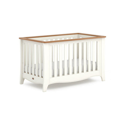 Boori Provence Expandable Cot Bed - Cream & Pecan-Cot Beds- Natural Baby Shower