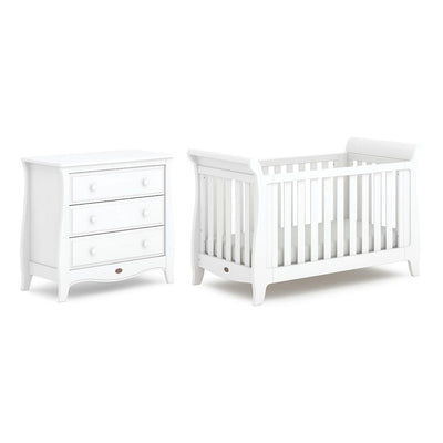 Boori Sleigh Expandable 2 Piece Nursery Set - Barley White-Nursery Sets- Natural Baby Shower