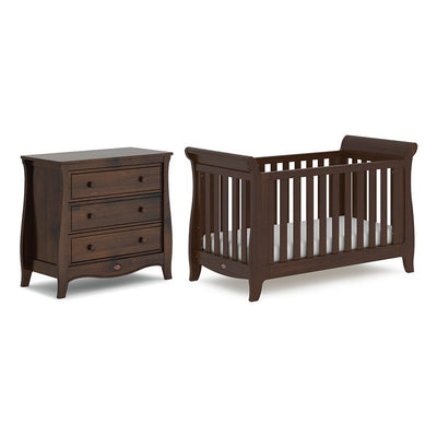 Boori Sleigh Expandable 2 Piece Nursery Set - Coffee-Nursery Sets- Natural Baby Shower