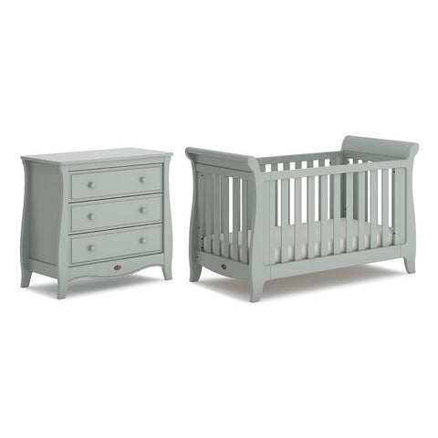 Boori Sleigh Expandable 2 Piece Nursery Set - Pebble-Nursery Sets- Natural Baby Shower