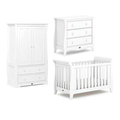 Boori Sleigh Expandable 3 Piece Nursery Set - Barley White-Nursery Sets- Natural Baby Shower