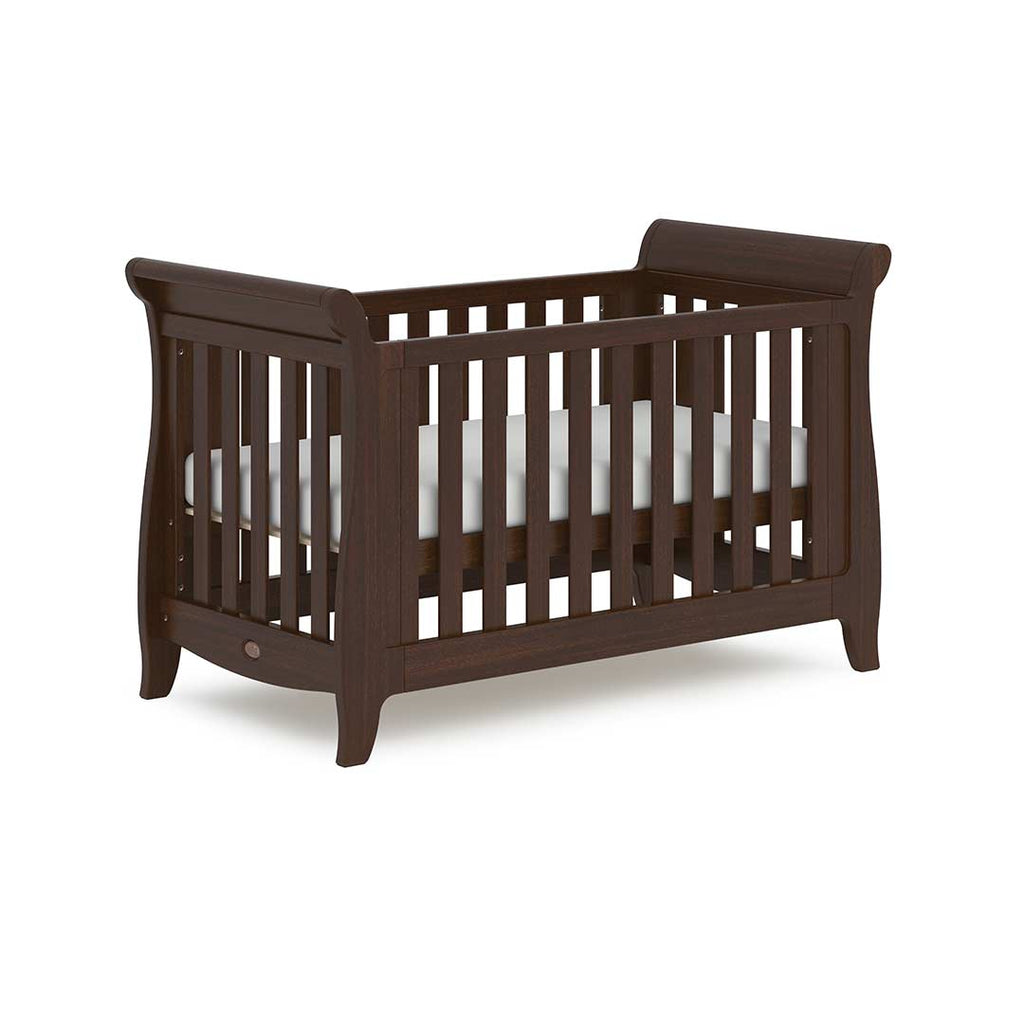 Boori Sleigh Expandable Cot Bed - Coffee 1