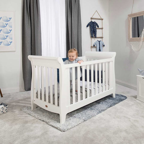 Boori Sleigh Expandable Cot Bed - Barley-Cot Beds- Natural Baby Shower
