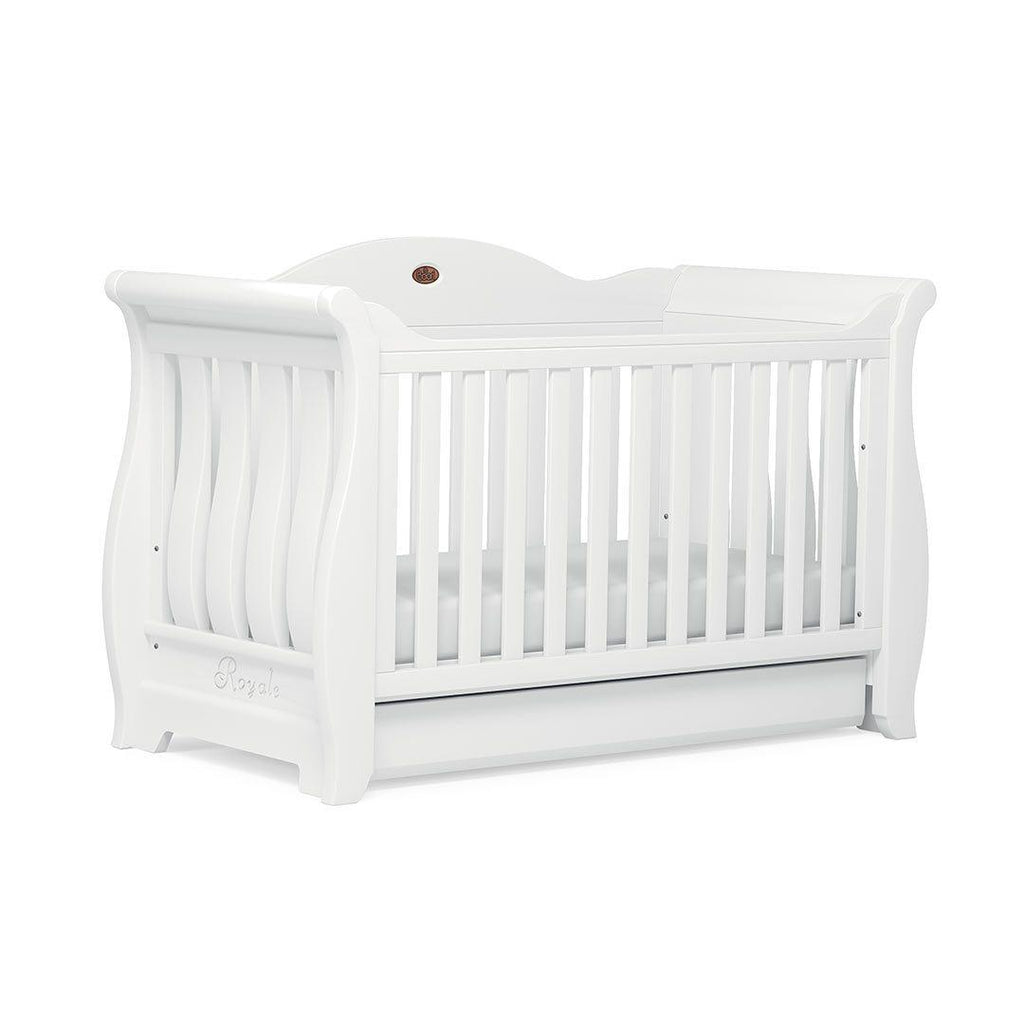 - Boori Sleigh Royale Cot Bed - Barley White – Natural Baby Shower