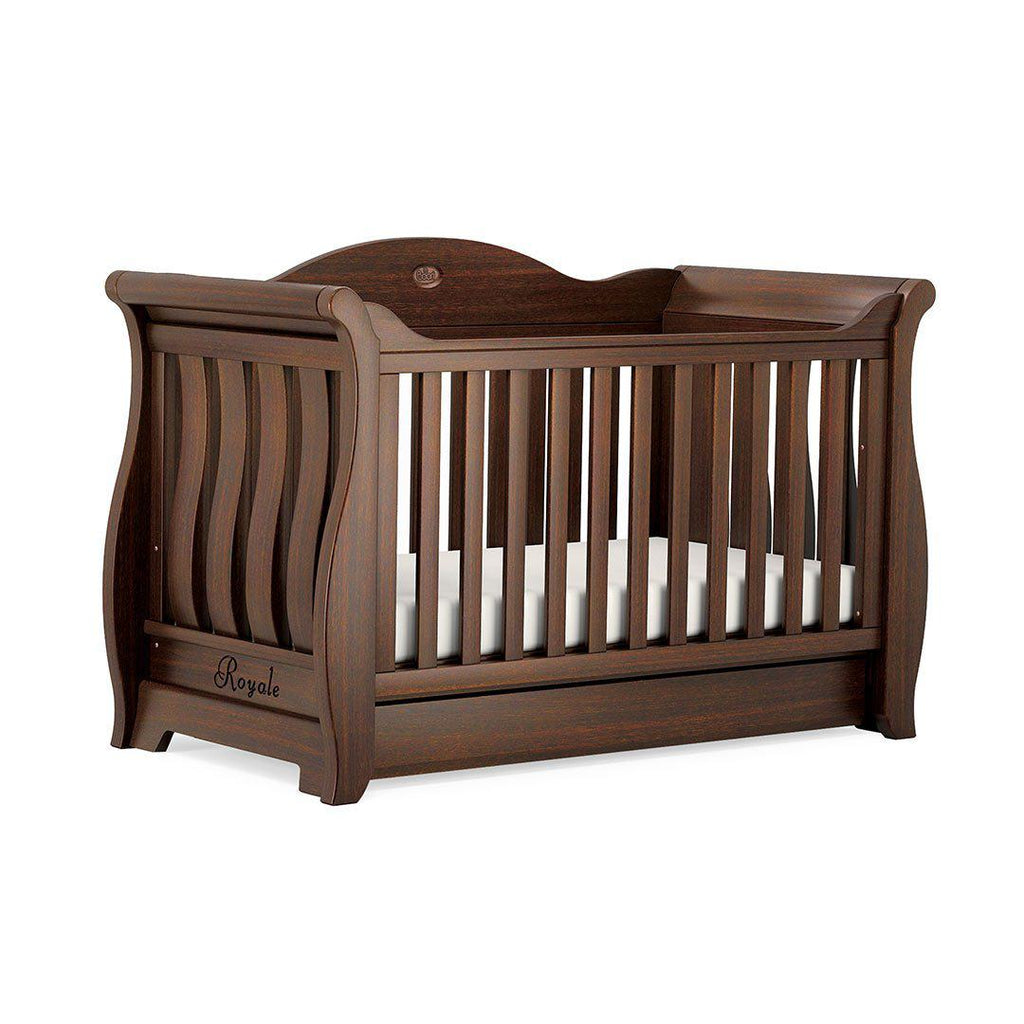 Boori Sleigh Royale Cot Bed - Coffee-Cot Beds- Natural Baby Shower