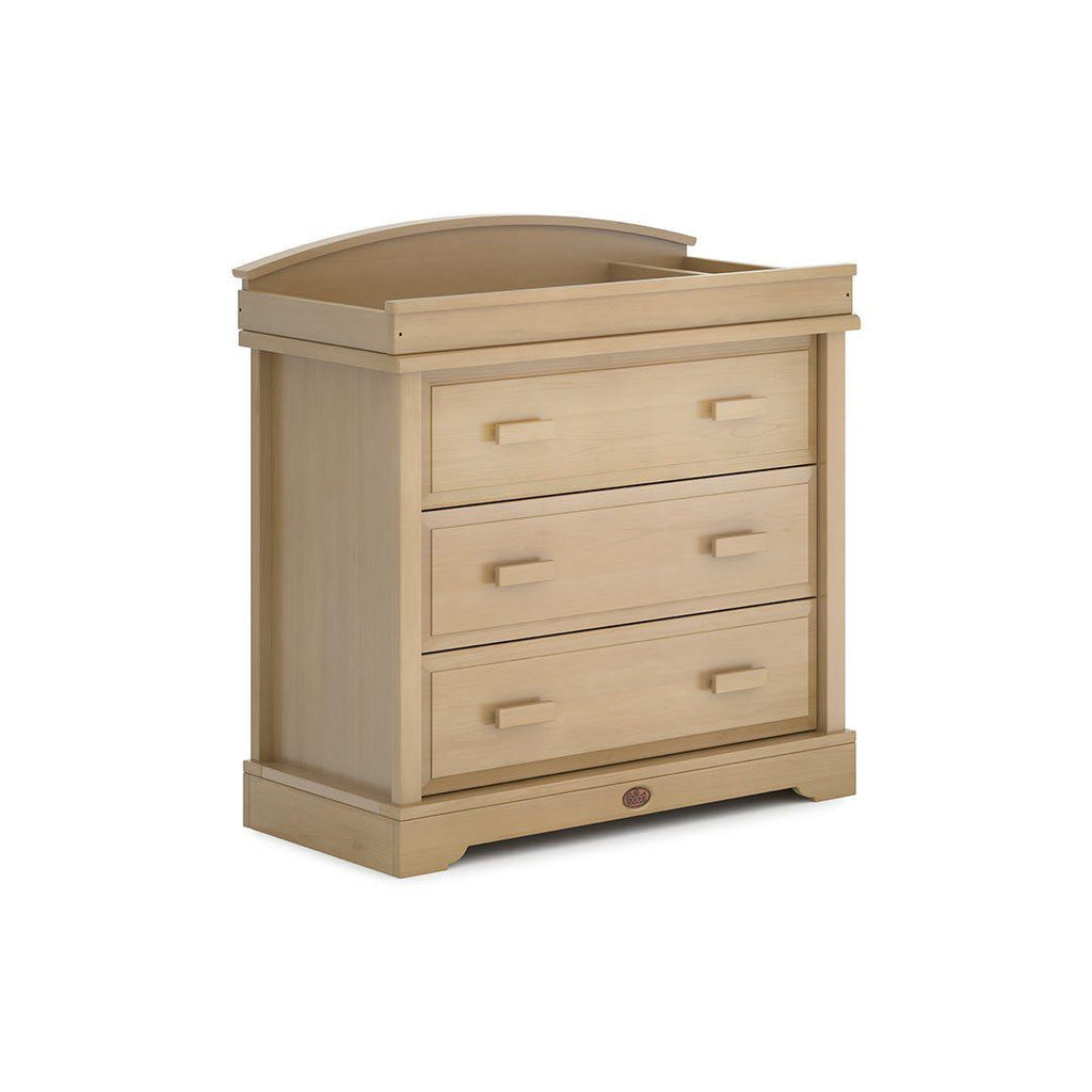 Boori Universal 3 Drawer Dresser with Arched Changing Station - Almond-Dressers & Chests- Natural Baby Shower
