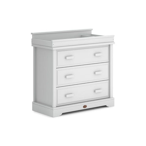 Boori Universal 3 Drawer Dresser with Squared Changing Station - Barley White-Dressers & Chests-Squared- Natural Baby Shower