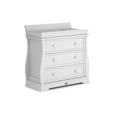 Boori Universal Sleigh 3 Drawer Dresser - Barley White-Dressers & Chests- Natural Baby Shower