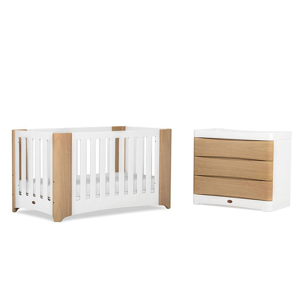 Boori Dawn 2 Piece Nursery Set in Beech and White