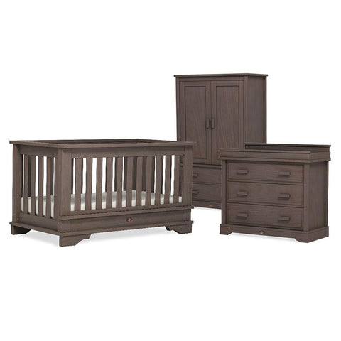 Boori Eton Convertible 3 Piece Nursery Set in Mocha