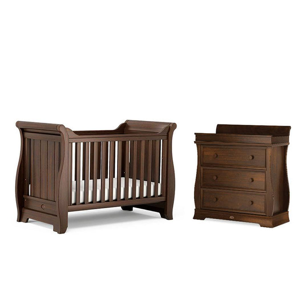 Boori Sleigh 2 Piece Nursery Set in English Oak