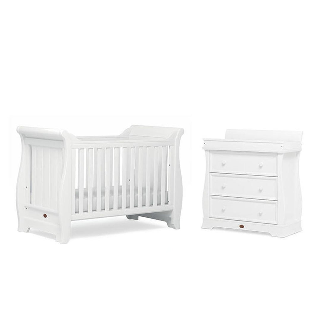 Boori Sleigh 2 Piece Nursery Set in White