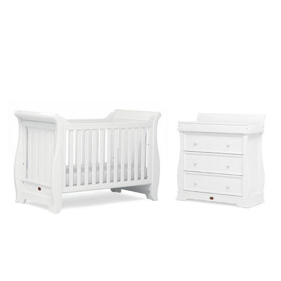 Boori Sleigh 2 Piece Nursery Set - Barley White-Nursery Sets- Natural Baby Shower