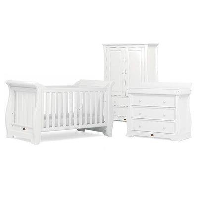 Boori Sleigh 3 Piece Nursery Set - Barley White-Nursery Sets- Natural Baby Shower