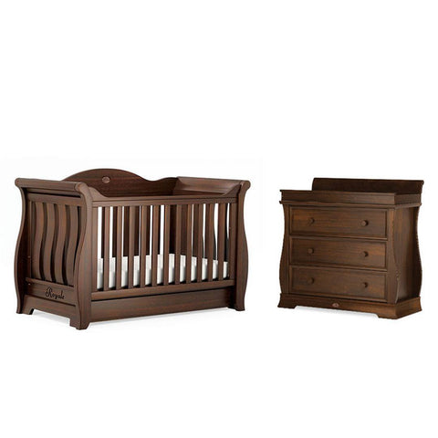 Boori Sleigh Royale 2 Piece Nursery Set in English Oak