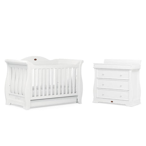 Boori Sleigh Royale 2 Piece Nursery Set - White - Nursery Sets - Natural Baby Shower