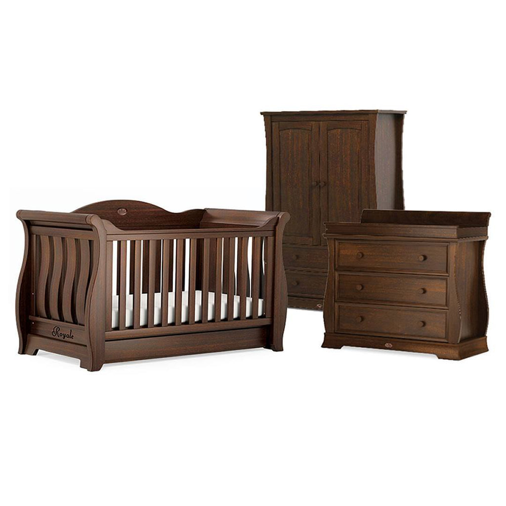 Boori Sleigh Royale 3 Piece Nursery Set - English Oak - Nursery Sets - Natural Baby Shower