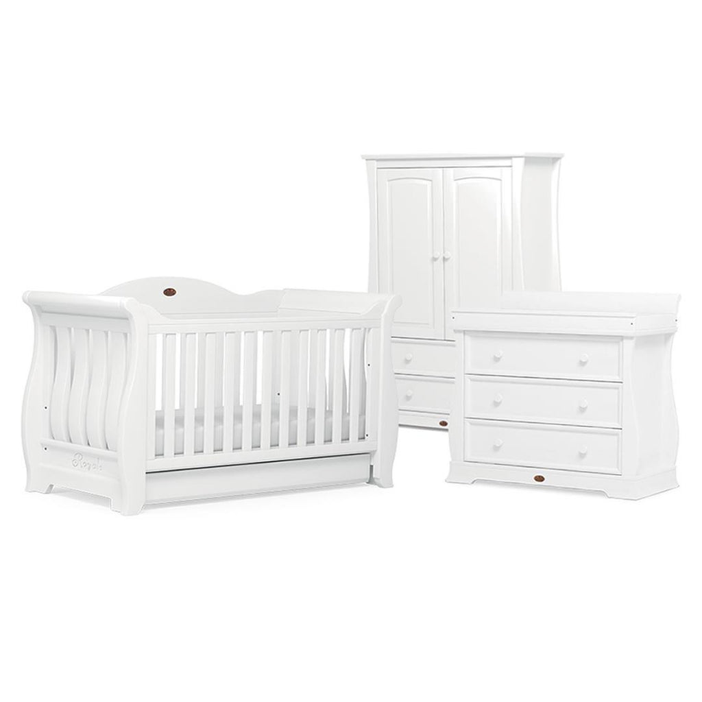 Boori Sleigh Royale 3 Piece Nursery Set in White