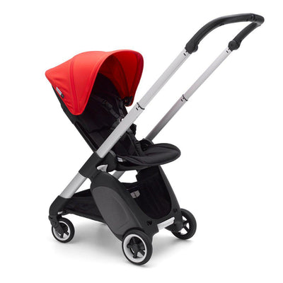 Bugaboo Ant Stroller - Aluminium + Neon Red-Strollers- Natural Baby Shower