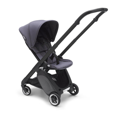 Ex-Display - Bugaboo Ant Stroller - Black + Steel Blue-Strollers- Natural Baby Shower