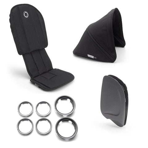 Bugaboo Ant Style Set Complete - Black-Colour Packs- Natural Baby Shower