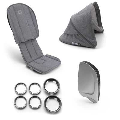 Bugaboo Ant Style Set Complete - Grey Melange-Colour Packs- Natural Baby Shower