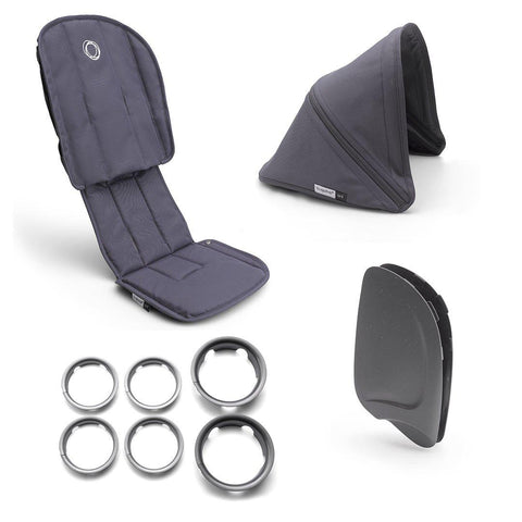Bugaboo Ant Style Set Complete - Steel Blue-Colour Packs- Natural Baby Shower