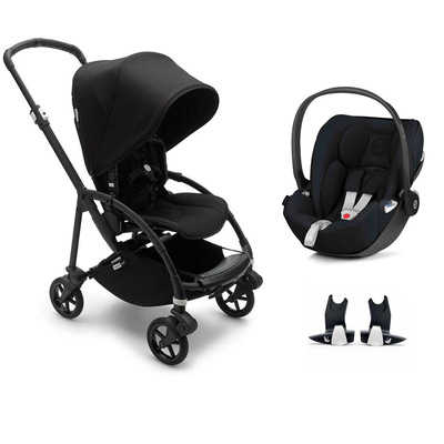Bugaboo Bee 6 Cloud Z Travel System - Black + Black-Travel Systems-No Carrycot-No Base- Natural Baby Shower