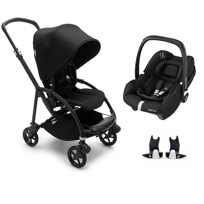 Bugaboo Bee 6 Tinca Travel System - Black + Black-Travel Systems-No Carrycot-No Base- Natural Baby Shower