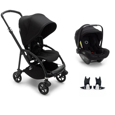 Bugaboo Bee 6 Turtle Travel System - Black + Black-Travel Systems-No Carrycot-No Base- Natural Baby Shower