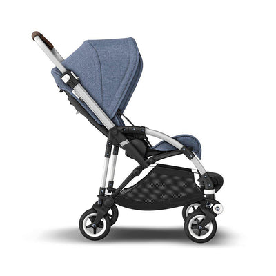 Bugaboo Bee5 Complete Pushchair - Blue Melange + Aluminium-Strollers- Natural Baby Shower