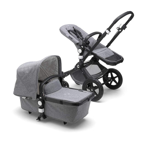 Bugaboo Cameleon³ Plus Classic+ Pushchair - Black + Grey Melange-Strollers- Natural Baby Shower